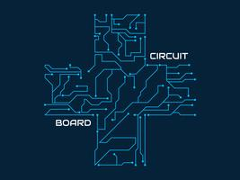 Increíble vector de placa de circuito impreso