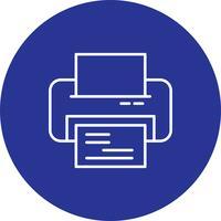 Icono de la impresora del vector