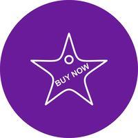 Vector buy now icon