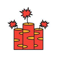icône de feu de travail de vecteur