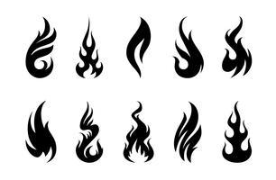 Flammes de vecteur