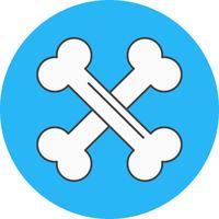 icono de vector de huesos