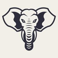 Olifant mascotte vector pictogram