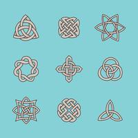 Simbolos celtas vector