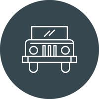 Vector jeep pictogram