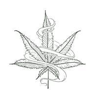 Feuille de marijuana de vecteur