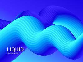 Blue Abstract Fluid Background