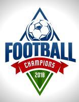 Emblema de futebol de vetor