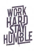 Work Hard Typography vector