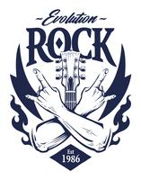 Emblema de rock vector art