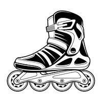 Arte de linha vetorial de patins em linha