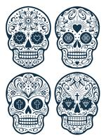 Vector Mexican Skulls with Patterns