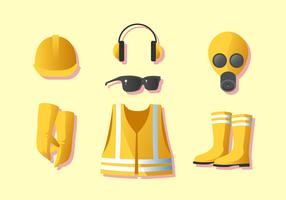 Personal Worker Protective Equipment Vector