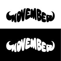 Movember bigote forma vectorial letras