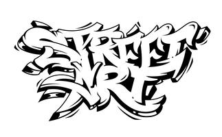 Street Art Graffiti Vector letras