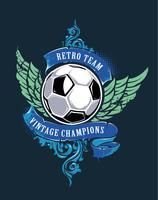 Fußball-Grunge-Print