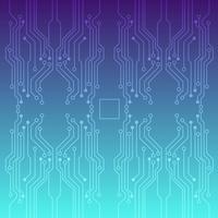 Vetor de placa de circuito impresso