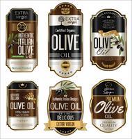 Olive oil retro vintage golden background collection