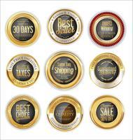 Coleção de etiquetas e etiquetas de emblemas modernos