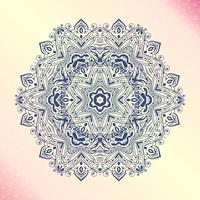 Mandala Amulette ronde florale vintage tatoo