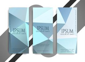 Abstract modern business banners set