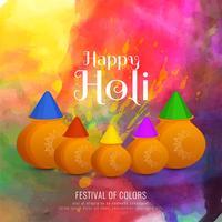 Abstracte gelukkige Holi kleurrijke viering achtergrond
