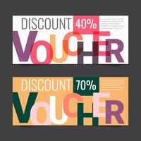 Gift Voucher Vector background