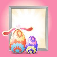 Oeufs de Pâques avec fond de cadre