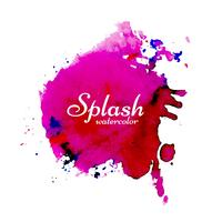 Modern watercolor splash bright colorful design