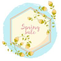 Cartoon spring sale banner