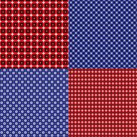 red and blue bandana geometric patterns