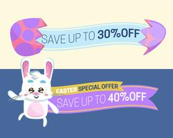 Collection of sale discount Easter banners