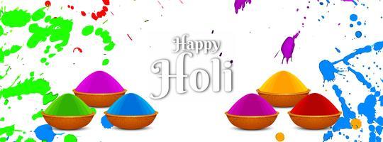 Abstracte Happy Holi festival sjabloon voor spandoek