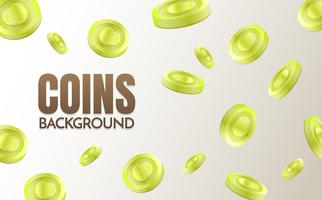 coins background template Vector