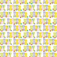 padrão de tipografia feliz Páscoa com flores e ovos