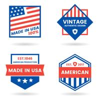 America Vector label for banner