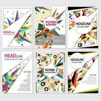 Low Poly Flyer style background Design Template vector