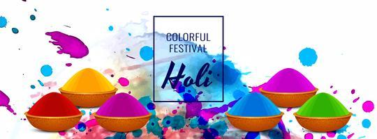 Abstracte gelukkige Holi-vector van de festival kleurrijke banner