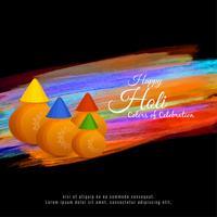 Abstracte Gelukkige kleurrijke het festivalachtergrond van Holi