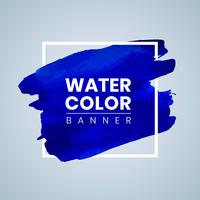 Blue Watercolor Banner