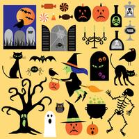 Clipart de halloween vector
