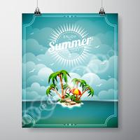 summer holiday theme  vector