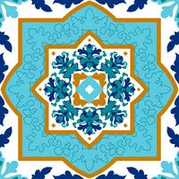 Portuguese azulejo. White and blue patterns.