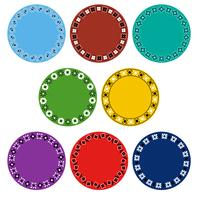 colorful bandana circle frames
