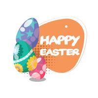 Vlakke gelukkige Pasen-dagachtergrond