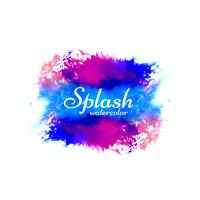 Design coloré lumineux splash aquarelle moderne