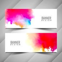 Conjunto de baneers colorido moderno abstracto