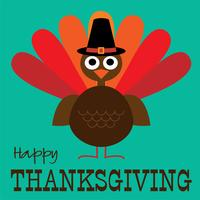 thanksgiving cute turkey graphic vector