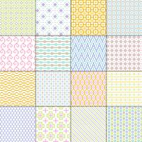 small pastel geometric seamless patterns vector