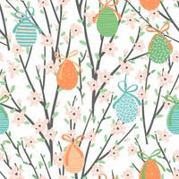 Vector seamless pattern with easter eggs.